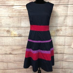 Anne Klein Striped Fully Lined Sleeveless Dress